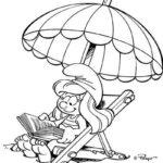 schlumpfine-beim-lesen